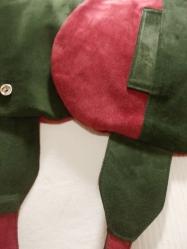 Camoscio e maiale bicolore, le due sacche